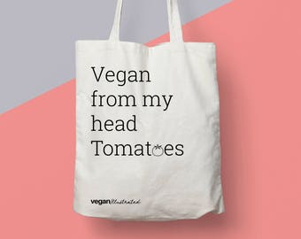 Vegan Gift Bag From My Head Tomatoes Eco Tote