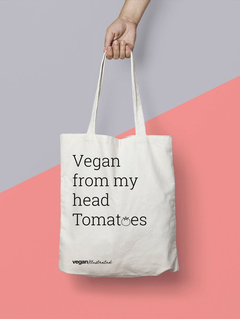Regalo vegano. Bolsa vegana. Vegan From My Head image 0