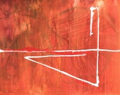 Axis - Abstract Art Red B...