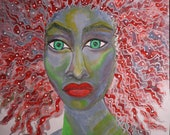The Pursuit of Femininity - Acrylic Mixed Media Portrait, Portrait Painting, Original Modern Art Decor
