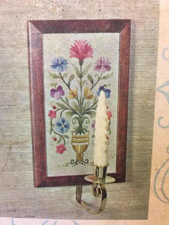Vintage Elsa Williams Heritage Crewel Embroidery Kit Candle Etsy