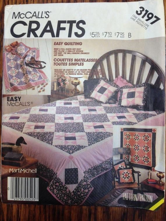 Vintage Mccalls Crafts Uncut Quilt Sewing Pattern 3197 Etsy