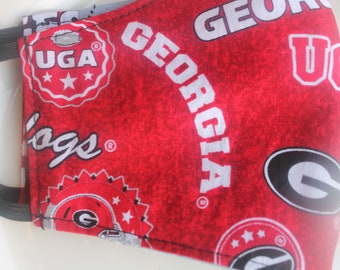 Face Mask with Filter Pocket | Georgia Bulldogs Home State Reusable Face Mask | Three Layer Protective Face Covering  |  Sports Face Mask