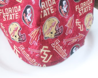 Face Mask with Filter Pocket, Florida State Football Mask, Reusable Face Mask, Made in the USA Face Mask, Double Layer Protective Face Mask