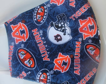 Face Mask with Filter Pocket  | Auburn Tone on Tone Mask  | Reusable Face Mask | Three Layer Protective Face Covering  |  Sports Face Mask
