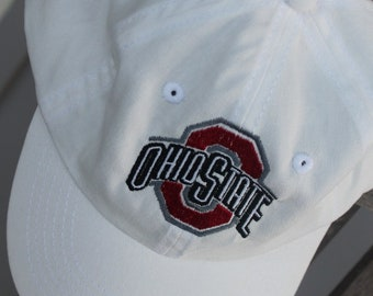 Ohio State College Football Personalized Baseball Cap Infant Toddler Youth Baseball Hat Monogram Baseball Cap Custom Embroidered Hat