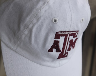 Texas ATM College Football Personalized Baseball Cap Infant Toddler Youth Baseball Hat Monogram Baseball Cap Custom Embroidered Hat