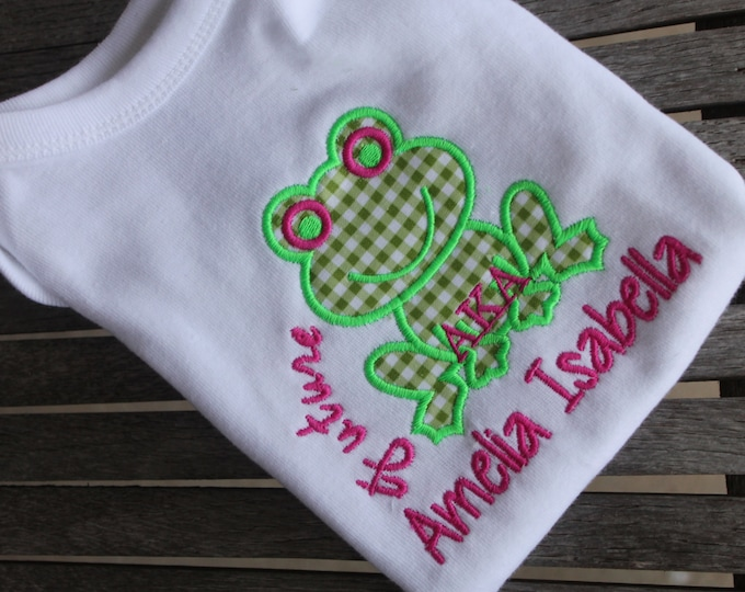 Featured listing image: Future Greek, Delta, AKA, Zeta, Alpha, Kappa, Omega, Baby Short Sleeve Onesie Applique Bodysuit T-shirt, Future Greek Baby Greek Legacy