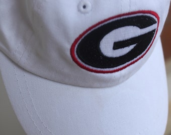 Georgia College Football Personalized Baseball Cap Infant Toddler Youth Baseball Hat Monogram Baseball Cap Custom Embroidered Hat
