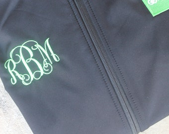 Monogrammed Two-Layer Fleeced Zippered WOMEN Jacket Ladies Jacket Gifts for Her Monogrammed Coat Personalized Jacket