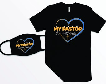 GPG I Love My Pastor Shirt and Masks Matching Set