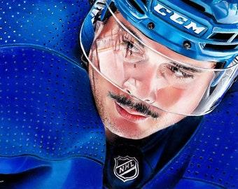 Toronto Maple Leafs Auston Matthews ORIGINAL A4 Drawing