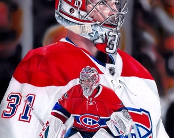Montreal Canadiens Carey Price drawing A4 Print