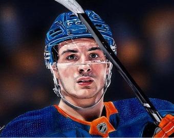 Mathew Barzal New York Islanders drawing A4 Print