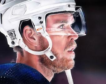 Edmonton Oilers Connor McDavid ORIGINAL A4 Drawing