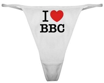 79b8e754f4cb Special Naughty PantiesI Love BBC Thong Panties Bikini Underwear