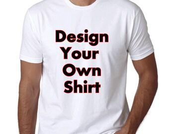 Any text or logo Men crew neck  Shirt