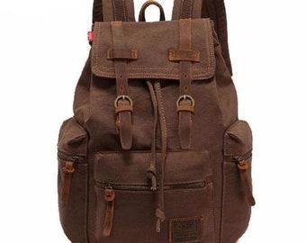 40921197f696 Vintage Canvas Backpack Rucksack