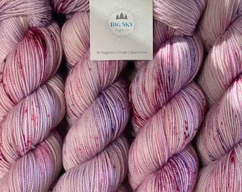 Fresh Air Stunning Sock Fingering Weight Hand Dyed Yarn