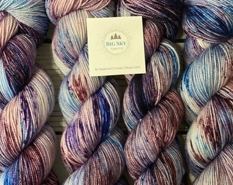 In a Daze Stunning Sock Fingering Weight Hand Dyed Yarn