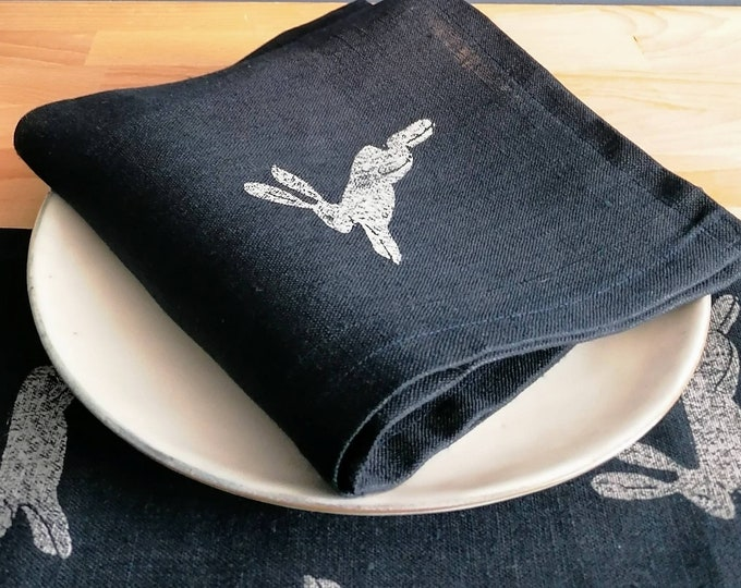 linen napkin hare