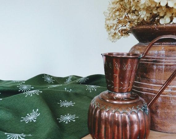ivy flower linen tablecloth