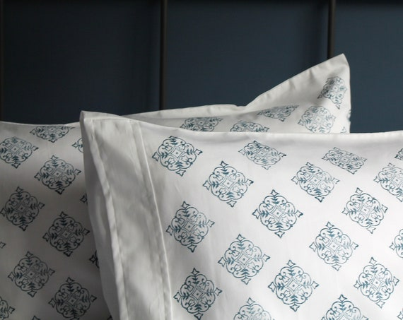 Pillowcases Pair - Moroccan Square - Organic Cotton