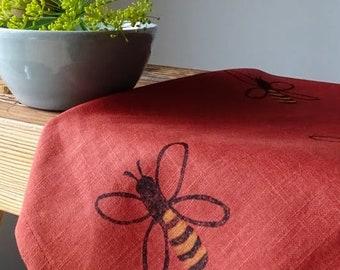 Honey Bee Linen Teatowel