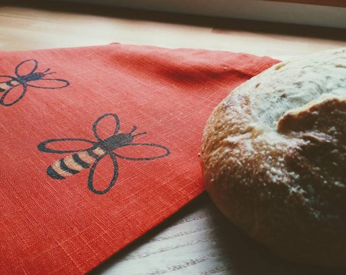 bee bread/vegetable bag tangerine linen