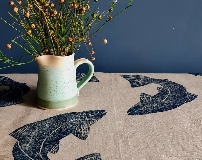 Featured listing image: Linen Salmon Tablecloth