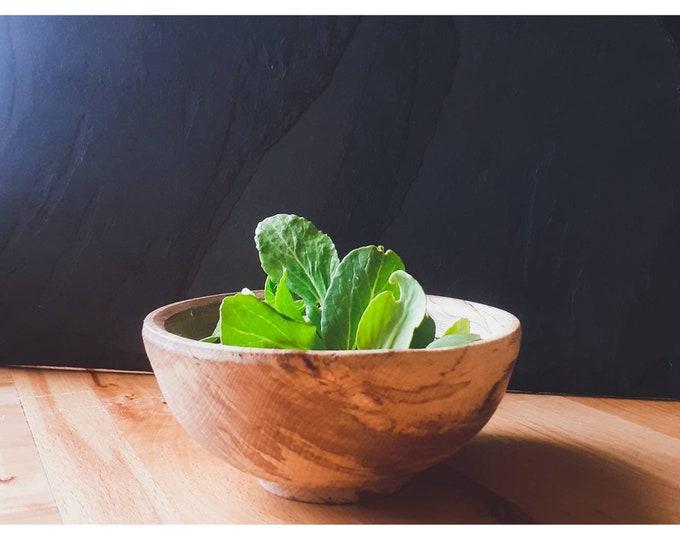 spalted beech breakfast bowl