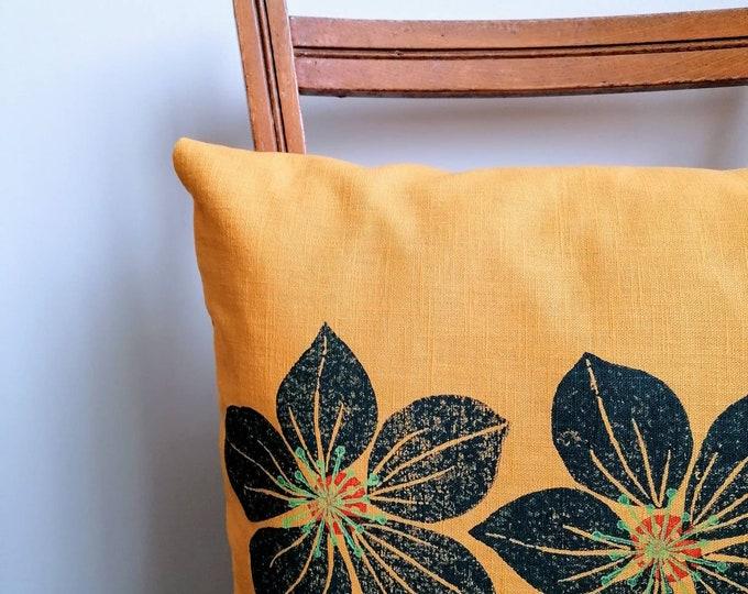 hellebore linen cushion