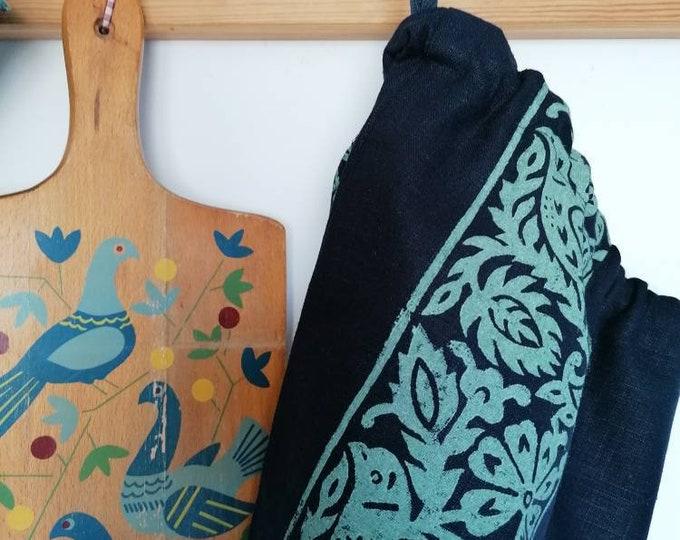 bluebird bread/vegetable bag navy linen