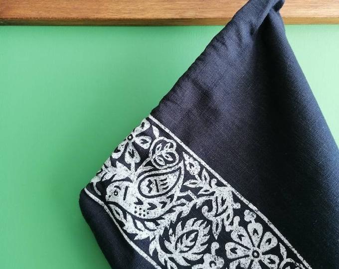 bluebird bread/vegetable bag linen