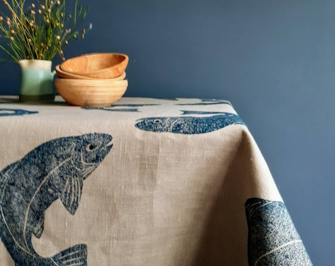 Featured listing image: Salmon Tablecloth Linen