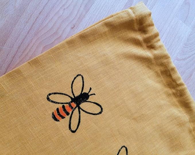 bee bread/vegetable bag mustard linen