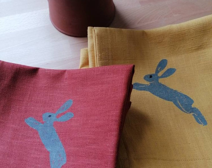 leaping hare napkin