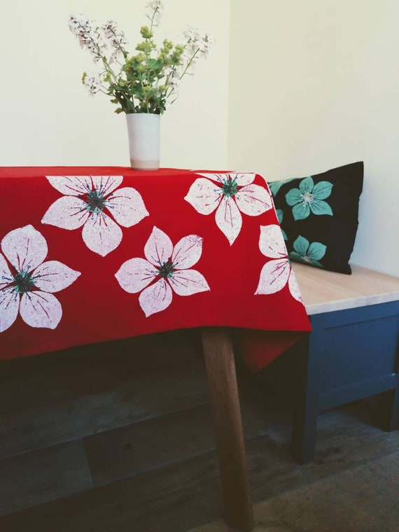Square helebore tablecloth