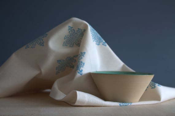 Blue Geometric - Tea Towel - Organic Cotton