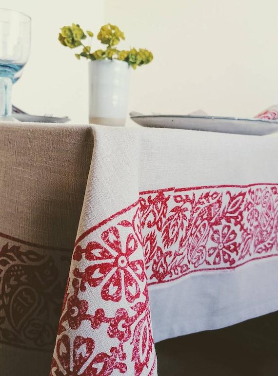 bluebird tablecloth gray