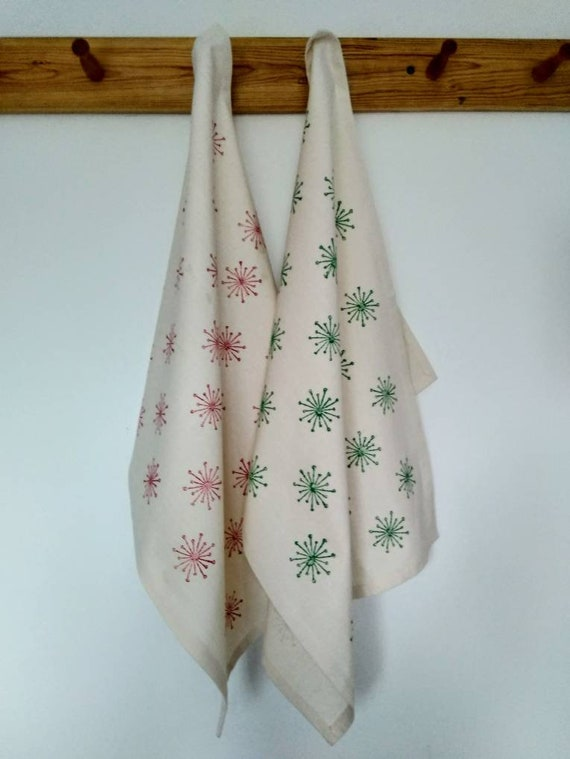 Ivy Flower - Tea Towel - Organic Cotton