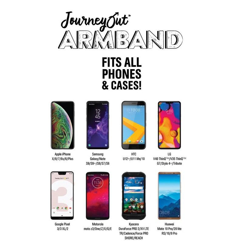 JourneyOut Phone Armband Gray Brush
