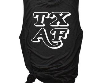 texas AF ladies t shirt high vibe Austin ATX tank top workout spiritual gangster God Bless Texas