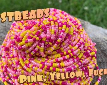 Justbeads-Pink, Yellow, Fuchsia