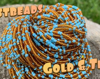 Justbeads- Gold & Teal