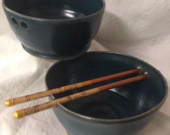 noodle bowl pho rice ramen bowl stir fry chopstick bowl Asian cuisine blue gray teal aqua dorm gift wedding  housewarming handmade pottery
