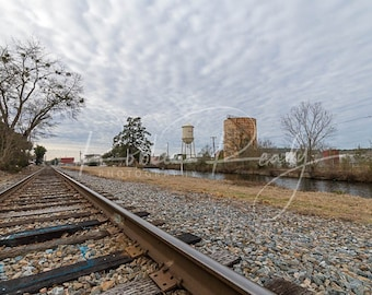 Graniteville Canal and Tracks Photography Print