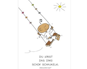 The Little Yogi Postcard Nice To Have You There Etsy