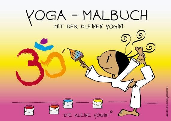 Die Kleine Yogini Yoga Malbuch Als Pdf Datei Download 20 Etsy