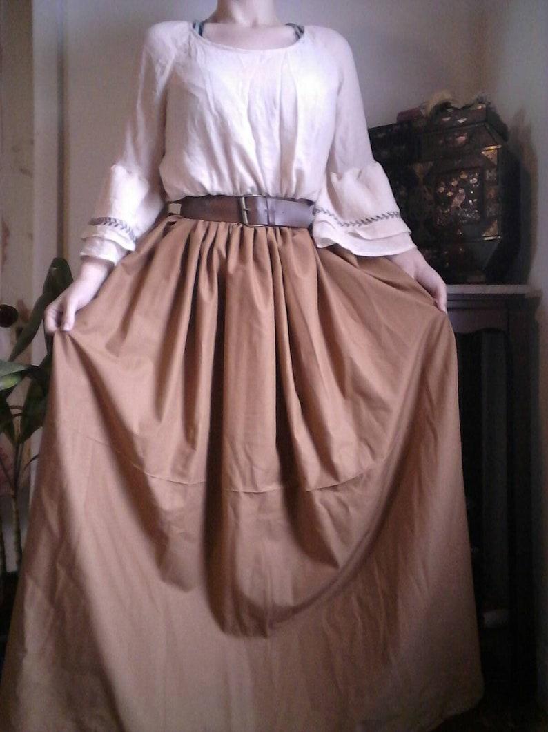 aa44ae47e Golden brown renaissance skirt pirate skirt renaissance fair   Etsy